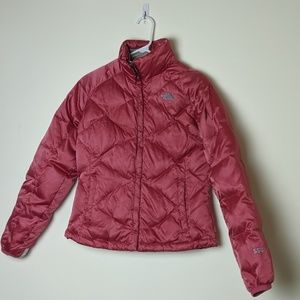 North Face 550 Pink Puffer Down Coat Woman's Small